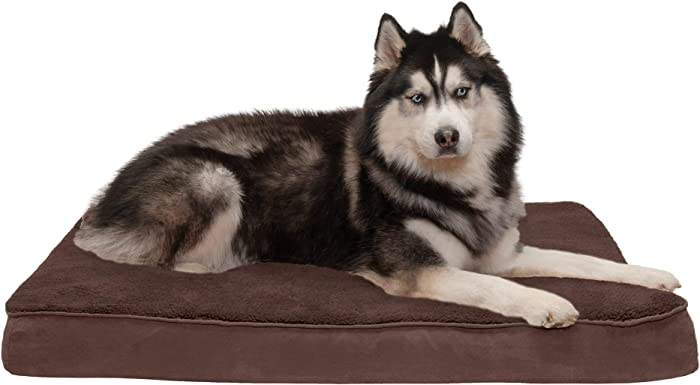 Furhaven Pet - Traditional Orthopedic Foam Mattress Dog Bed for Dogs & Cats - Multiple Styles, Sizes, & Colors