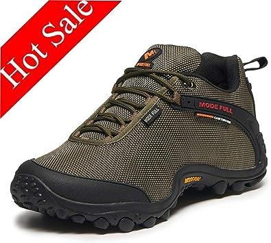 Hombres Zapatos de Trekking Impermeables Antideslizantes Peso ...