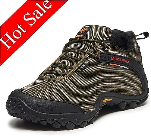 Hombres Zapatos de Trekking Impermeables Antideslizantes Peso Ligero Calzado Las Zapatillas de Deporte for Todos Caminar Temporada Viajar con Mochila (Color : Brown, Size : 42): Amazon.es: Hogar