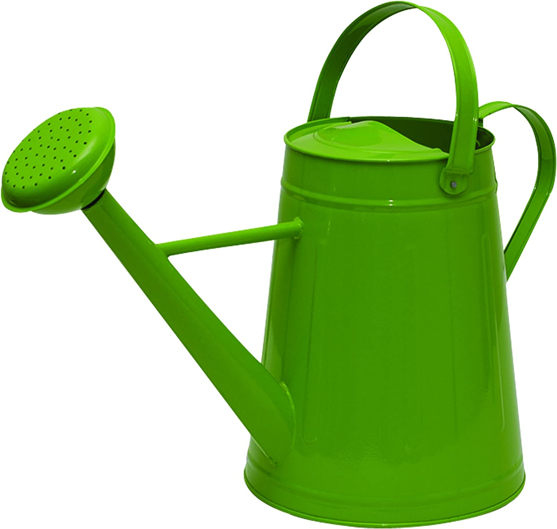 Tierra Garden 36-5081G Traditional Metal Watering Can, 2.1-Gallon, Green