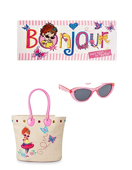 707037d9b1 Amazon.com: Fancy Nancy Girls Swim Bag Beach Towel and Sunglasses 3 Pc:  Home & Kitchen