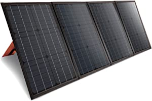 100W Portable Solar Panel, Folding Solar Panel Kit, Solar Charger with USB Outputs, Charge for Laptop, iPhone, Compatible with Solar Generators Power Stations, for Outdoors Camping, Travel, Emergency