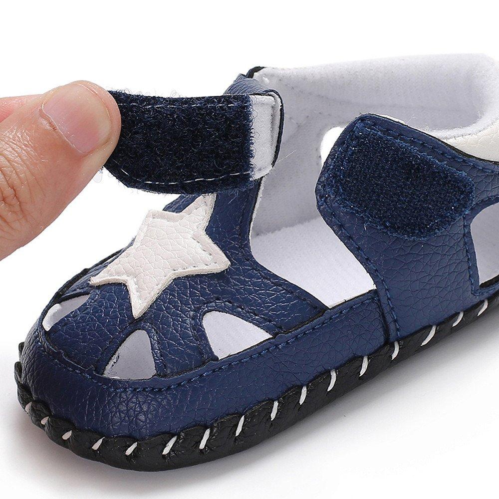 Nevera Boy's Summer Closed Toe Strap Star Soft Sole Fisherman Sandal(Toddler/Little Kid/Big Kid) Blue