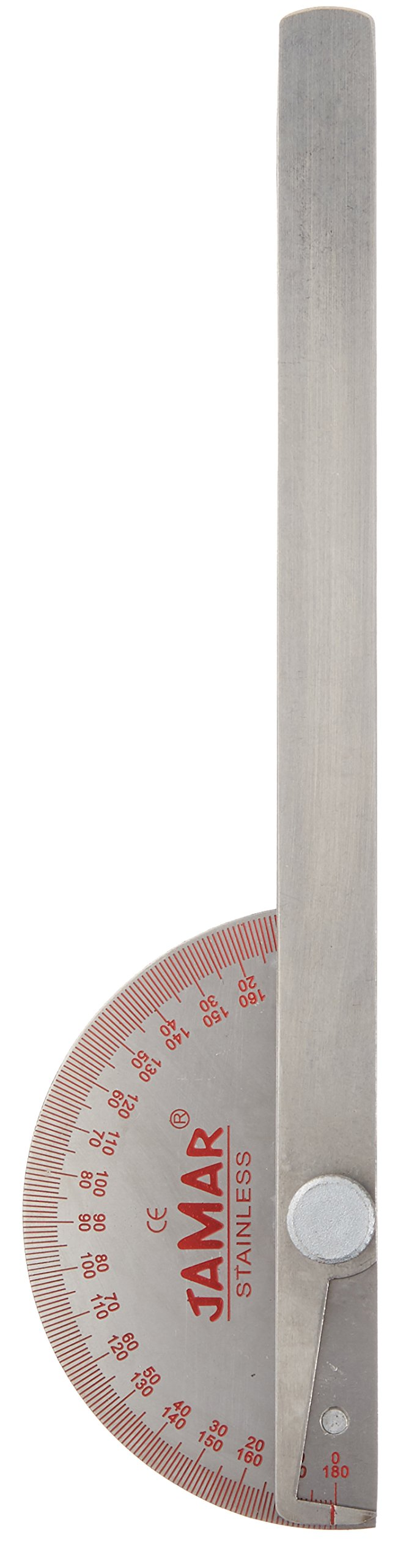 JamarStainless SteelGoniometer,8'' (20cm), Professional Manual Hand and Finger Range of Motion Tool for Accurate Angle Measuring, Non Locking Protractor for Inch & Centimeter Linear Measurement