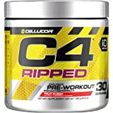 Cellucor C4 Ripped Pre Workout Powder, Thermogenic Fat Burner, Energy & Weight Loss Supplement For Men & Women, Fruit Punch, 30 Servings