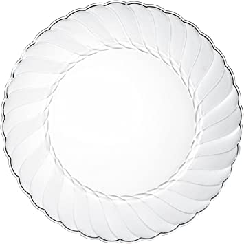 Amazon.com: Alpha & Sigma - Platos de plástico transparente ...