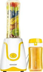 Sencor SBL2206YL 300W Smoothie Blender with 2 Impact Resistant BPA Free Bottles, Yellow