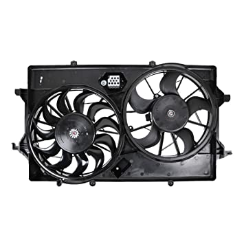 Radiator Cooling Fan w// Dual Blades for 05-07 Ford Focus