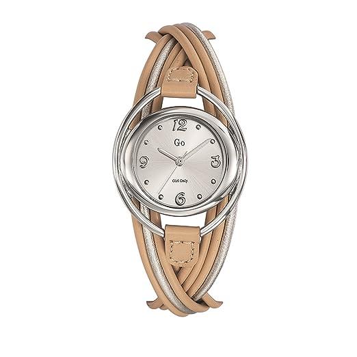 Go 698721 - Reloj de Pulsera Mujer, Cuero, Color Beige: Amazon.es: Relojes
