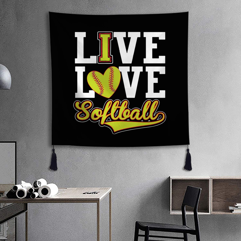 Live Love Softball Sofa Fleece Blanket Freeshipping