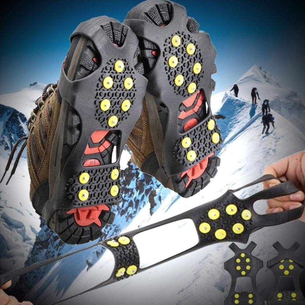 Demiawaking Universal Anti Slip Grips Snow Ice Grip Shoes Boots Spikes Grappers