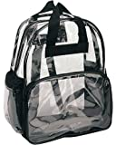NuFazes Clear Backpack- See Through Clear Backpacks- School Sports Work Security Travel