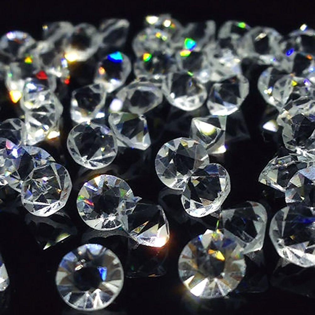 HansGo Clear Glass Diamonds 500PCS Crystal Gems Pirate Treasure 10mm Fake Diamond Wedding Favor Table Centerpiece Decorations