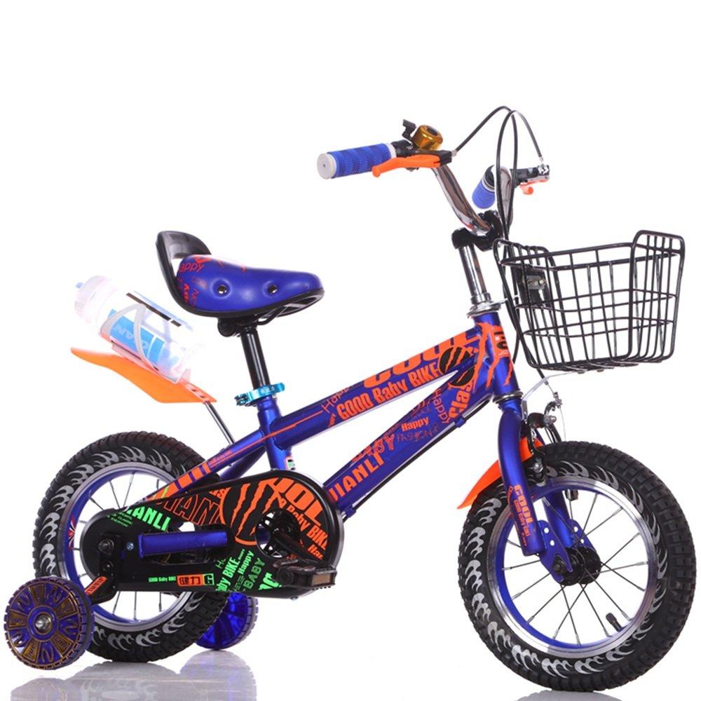 男の子のベビーカー、女の子の自転車、子供の自転車、子供のサイクリング ( 色 : 青 , サイズ さいず : 98cm ) B078KNLP87 98cm|青 青 98cm