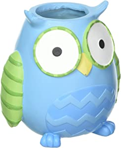 """Whoo's Cutest Collection Whimsical 6"""" Tall Owl Flower Vase/Planter Cute Baby Nursery or Home Decor"""
