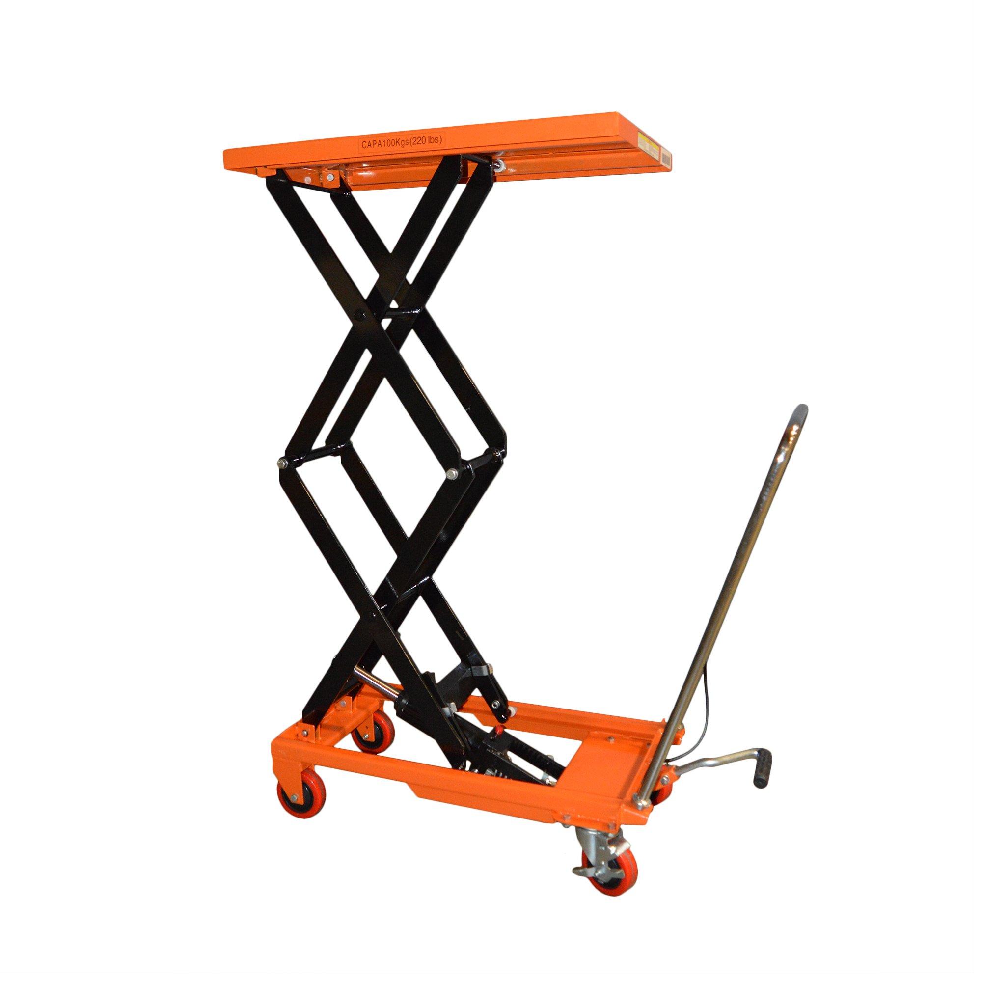 Bolton Tools Hydraulic Double Scissor Lift Table Cart |TF10