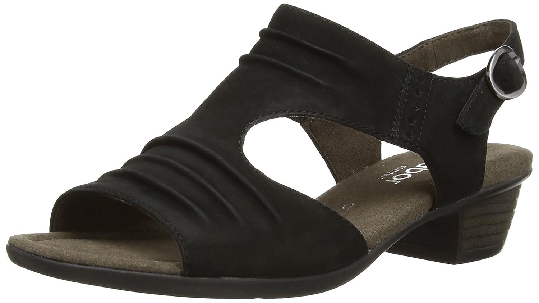 Black sandals ebay uk - Image Is Loading 6 5 Uk Black Schwarz Gabor Women S
