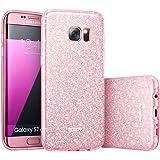 Samsung Galaxy S7 Edge Case, ESR Luxury Glitter Sparkle Bling Designer Case [Slim Fit, Hard Back Cover] Shinning Fashion Style for Samsung Galaxy S7 Edge Case (Rose Gold)