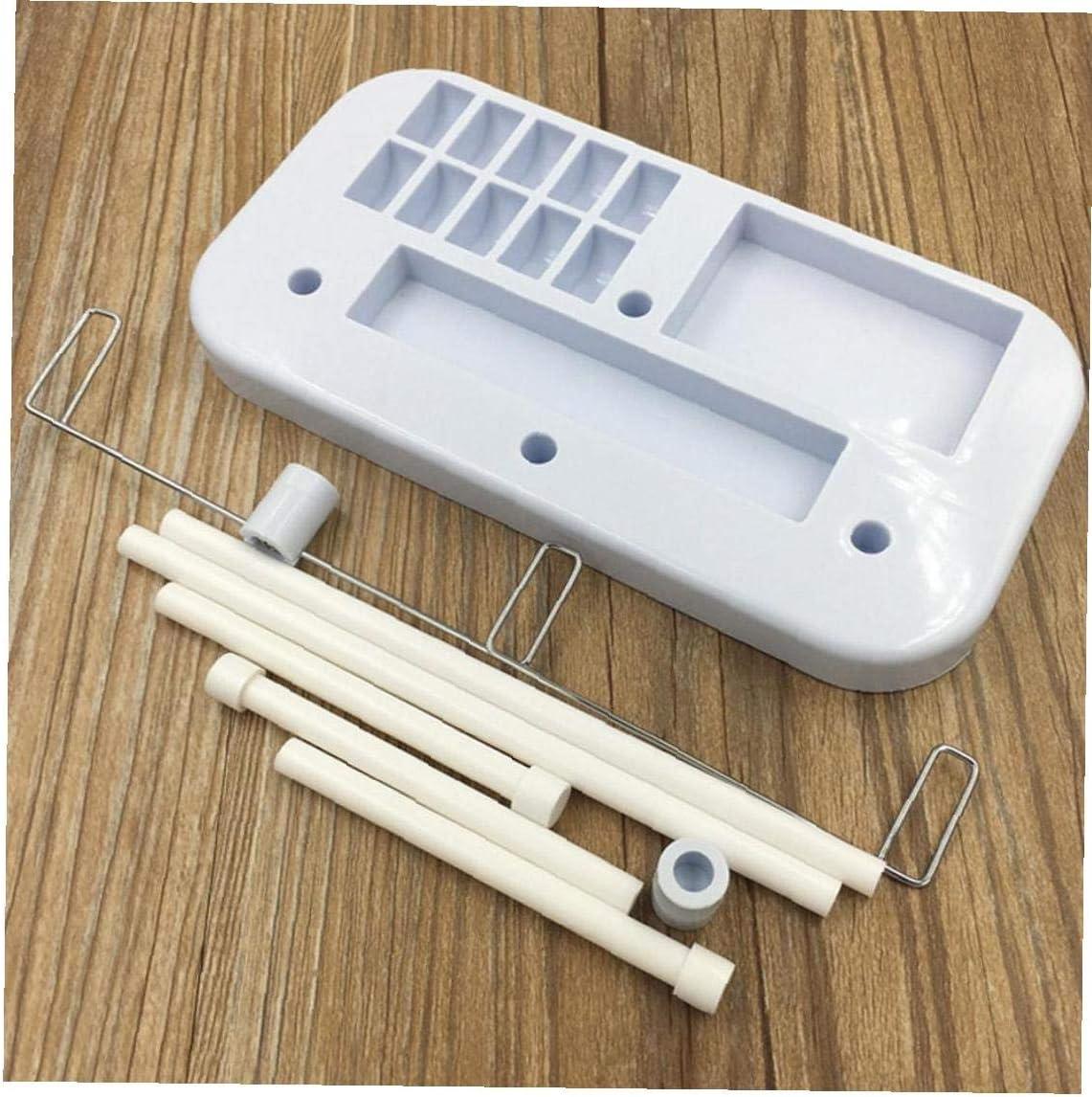 Hilo de coser m/áquina de coser m/áquina de soporte de herramientas Ajustable de 3 bobinas de hilo de rosca de pl/ástico titular de costura soporte 1PC azul claro