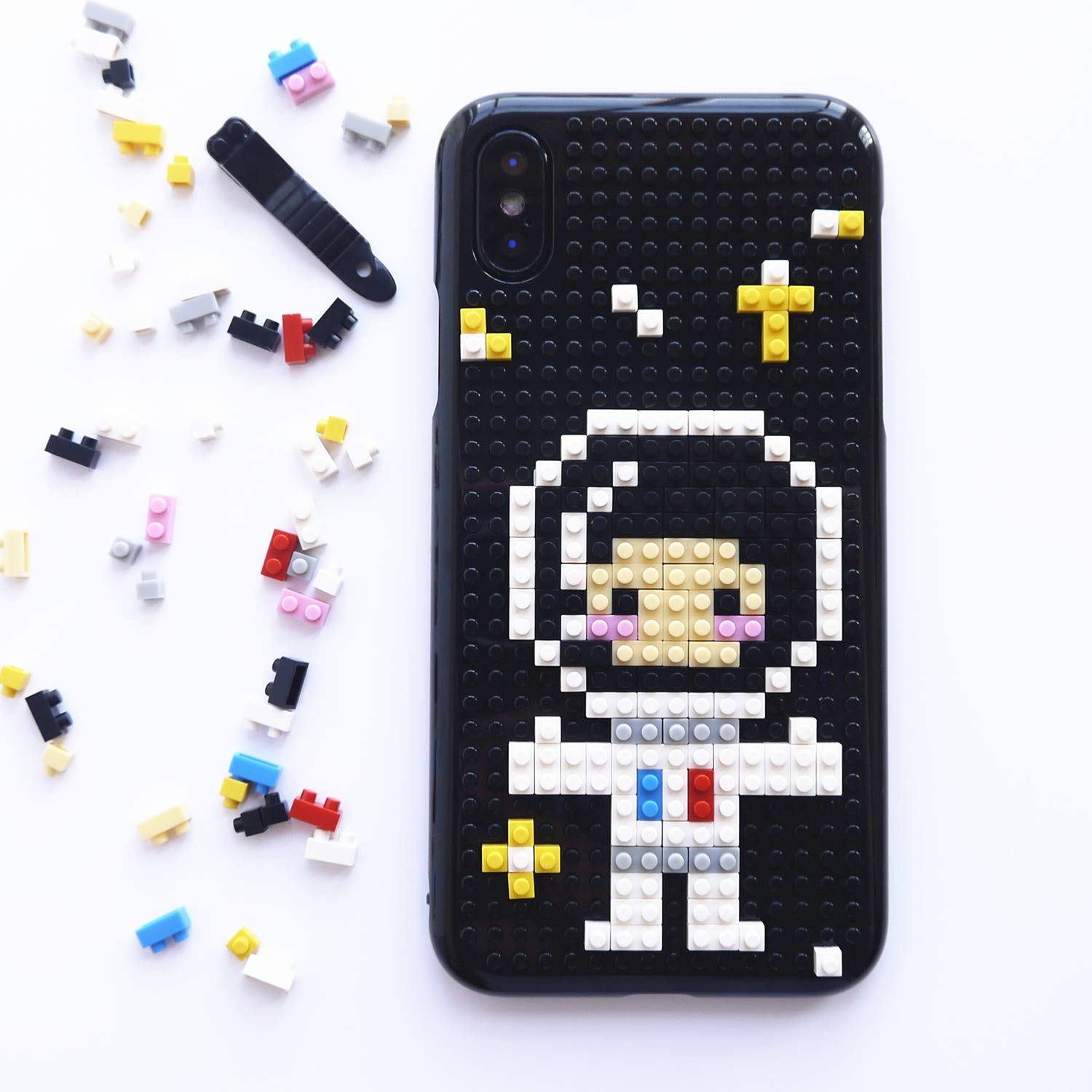 low priced 7dd1c 0e4f2 iPhone Xs Case, iPhone X Case, DMaos Cute Cartoon 3D DIY Mini Building  Blocks Toy Cover for Boys and Girls Creative Ability, Funny for iPhone  10s/10 ...
