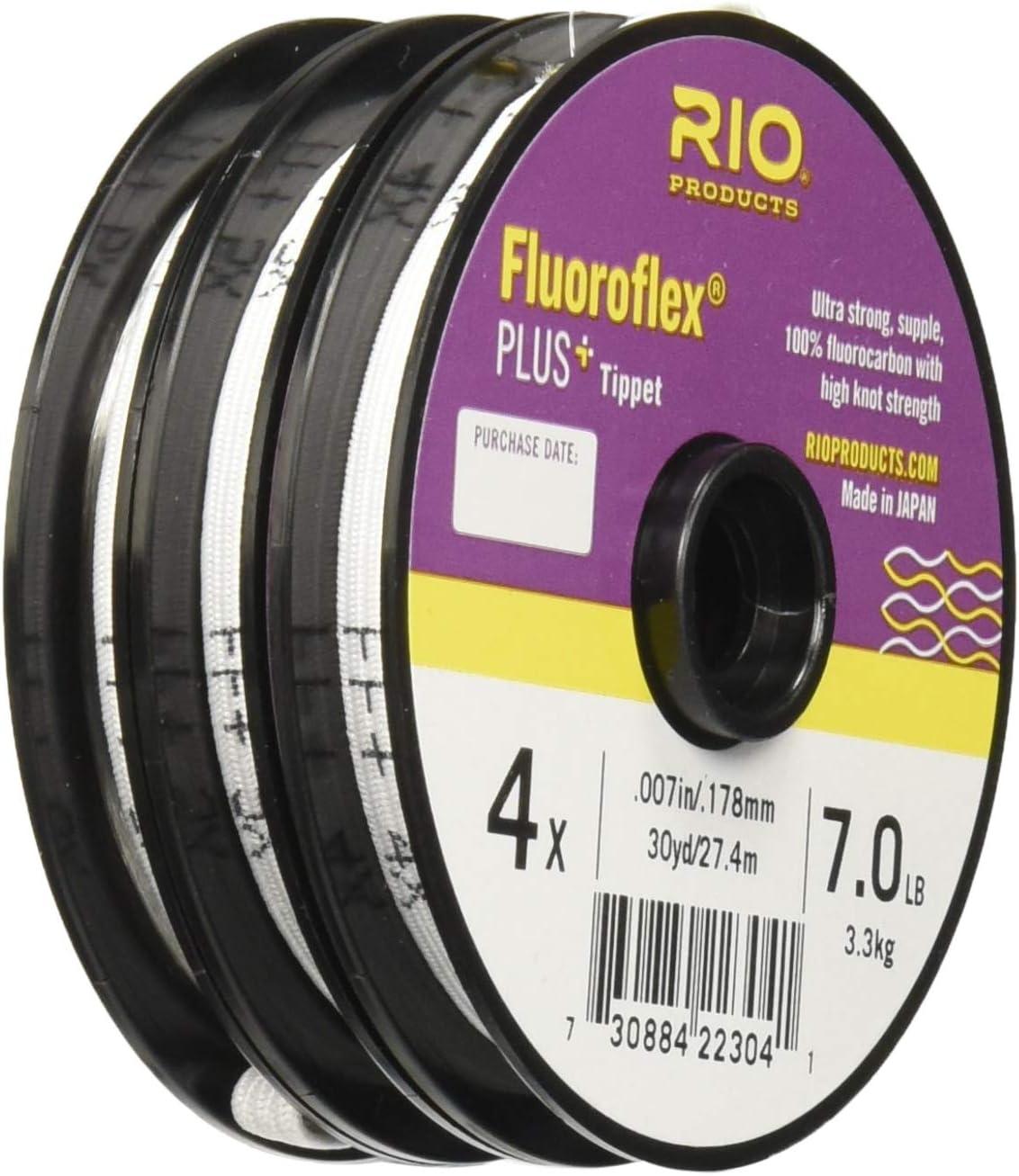 Rio Fluoroflex Plus 3-Pack Tippet Bobines 3x 4x 5x-LIVRAISON GRATUITE