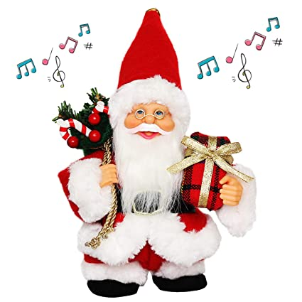 37405f8ecd9e1 CHENGMON 7 quot  Inch Christmas Animated Walk Santa Claus with Music  Dancing and Singing Electric Battery
