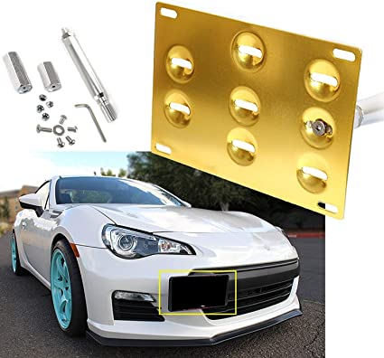Front Bumper Tow Hook License Plate Mounting Bracket Holder For Subaru WRX Scion
