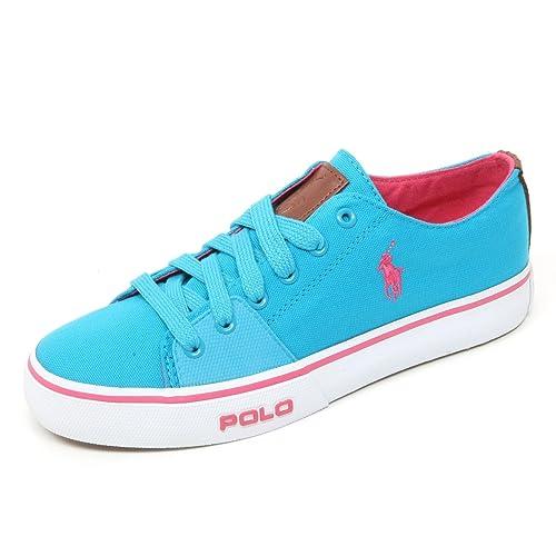 Ralph Lauren B9220 Sneaker Uomo Polo Cantor Low NE Scarpa Azzurro Fluo Shoe  Man  40 EU   Amazon.it  Scarpe e borse fd662c76900