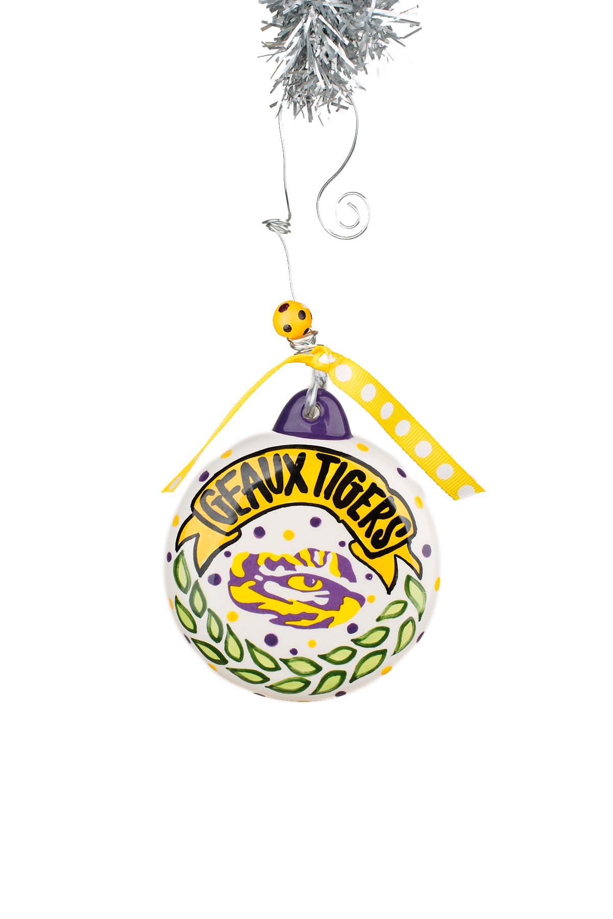 Glory Haus Lsu Puff Ornament, Multicolor by Glory Haus