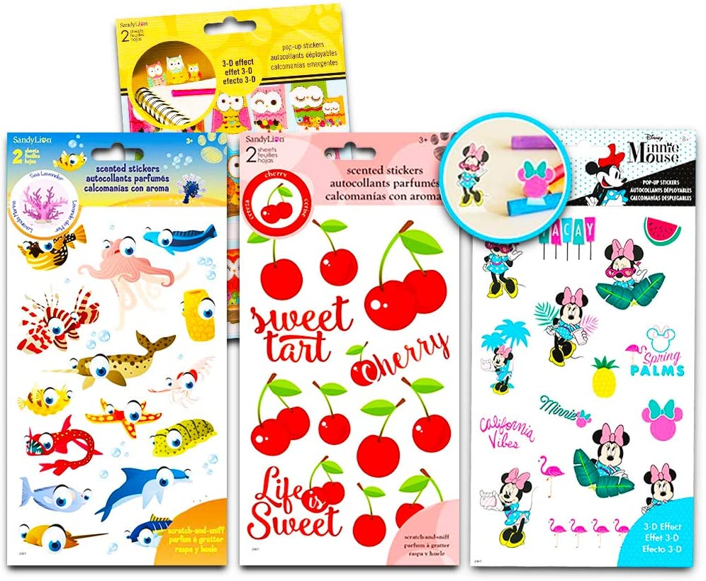Fruit Scented Stickers Variety Pack ~ Over 100 Scratch and Sniff Stickers for Kids Teachers