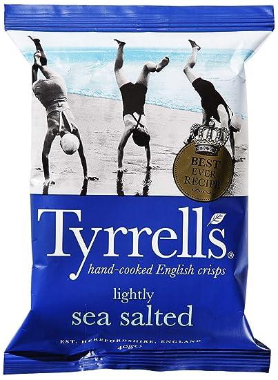 Tyrrell ligeramente la sal del mar bolsas de patatas fritas ...