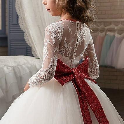 Amazon.com: OBEEII Kid Girl Lace Flower Floor Length Tutu Dress Dance Pageant Formal Wedding Evening Communion Maxi Ball Gown: Clothing