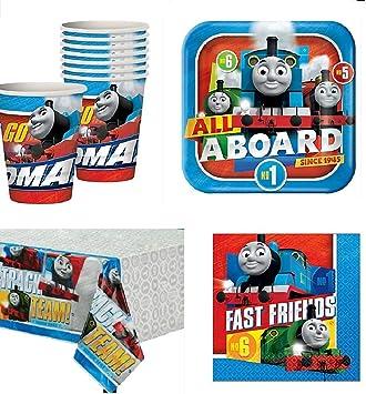 Amazon.com: Thomas el Tren todos a bordo Party Pack para 16 ...