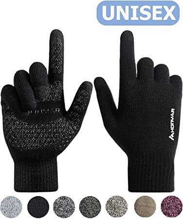 Unusual Mens Boys Winter warm Full Finger Smartphone Touch Screen Gloves Q