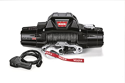 WARN 89305 ZEON 8-S Electric 12V Winch with Synthetic Cable Rope