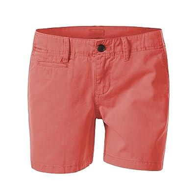 7 Encounter Women's Mid Rise Casual Cotton Chino Shorts | .com
