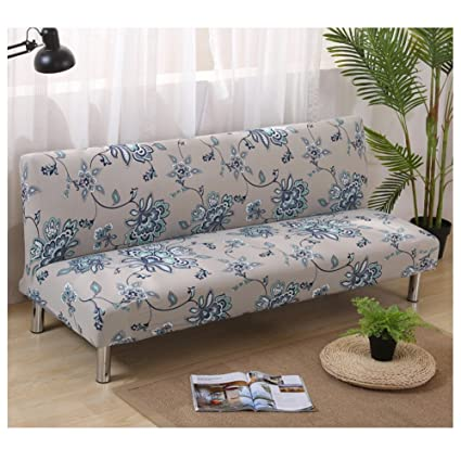 Sofa Bed Futon Cover Protector Folding Armless Elastic Stretch Spandex Modern Simple Living Room Couch Slipcovers