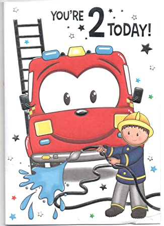Birthday Card For Two 2 Year Old Boy Free 1st Class Uk Post