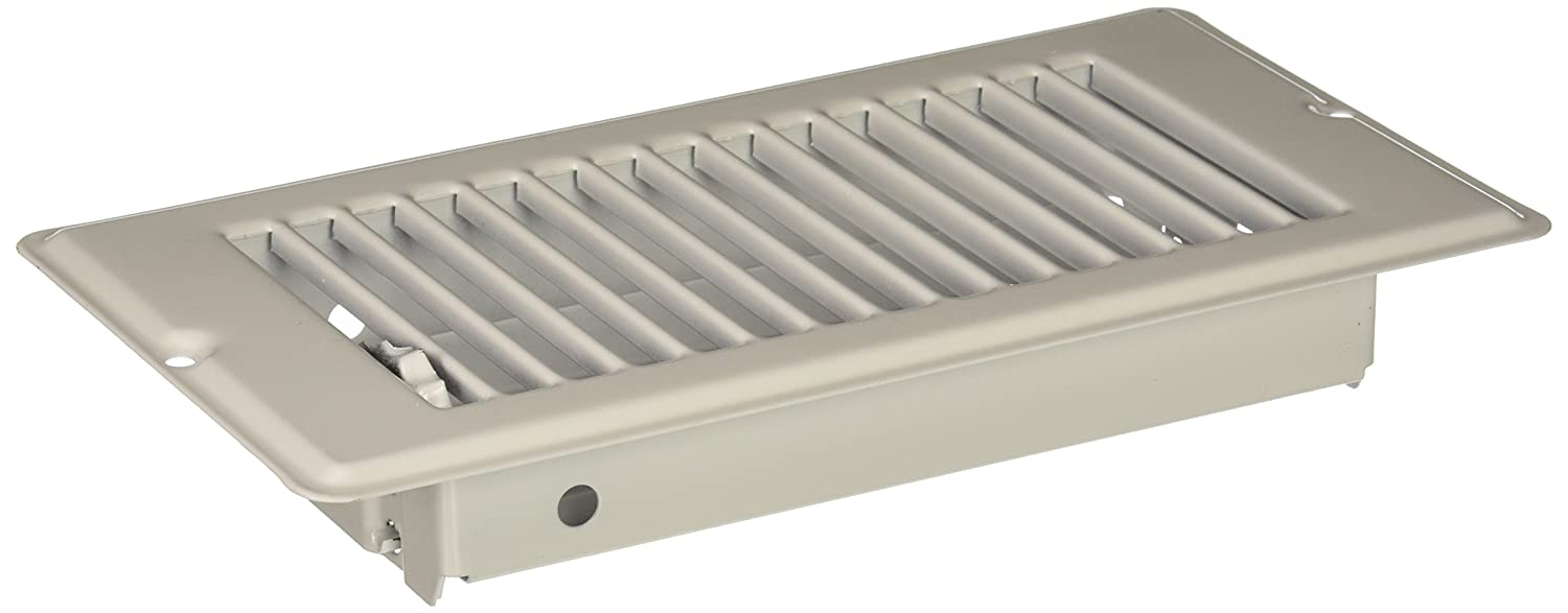 DANCO Mobile Home RV Floor Register with 1-5/16 inch Drop, 4 inch x 8 inch, Steel, White, 1-Pack (62069)