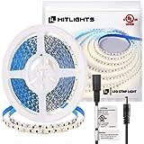 HitLights Neutral White LED Strip Lights, UL-Listed Premium High Density 2835-16.4 Feet, 600 LEDs, 4000K, 44W, CRI 90…