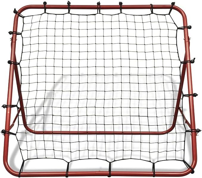 Fußball Kickback Rebounder Tor Stahl Rückprallwand einstellbar 100x100 cm