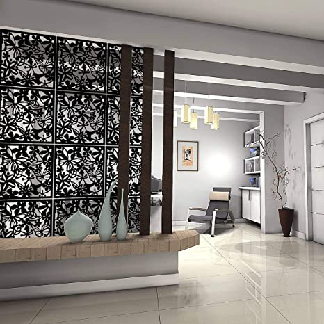 Kernorv Hanging Room Divider Made Of Environmentally PVC, 12 PCS Partitions  Panel Screen For Decorating