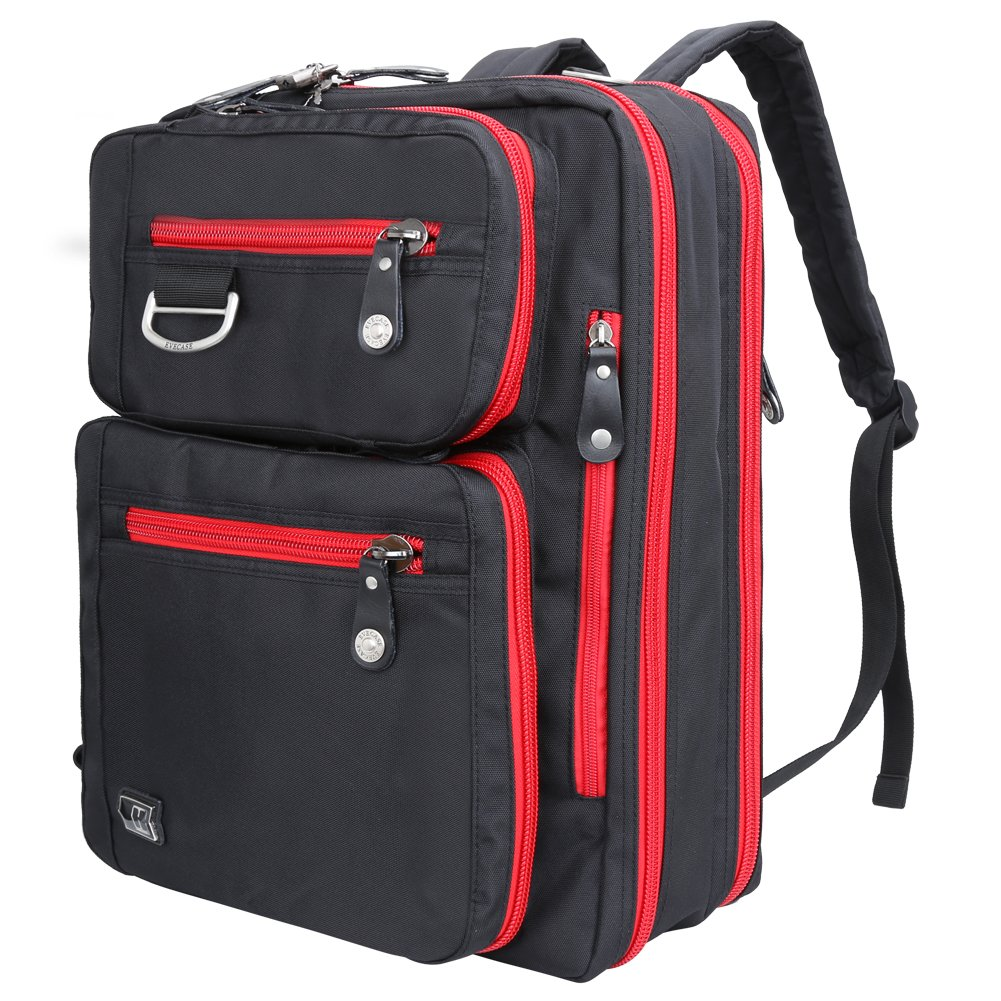Amazon.com: Laptop Briefcase Backpack, Evecase Unisex Lightweight ...