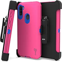 CoverON Rugged Holster for Samsung Galaxy A11 Case, Heavy Duty Military Grade Belt Clip Phone Cover - Hot Pink