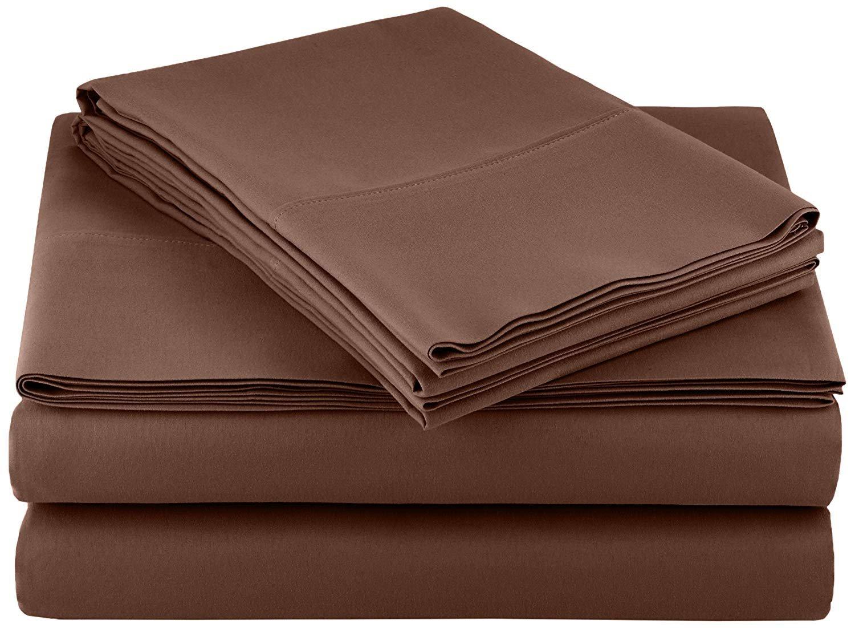 60 x 80 Rinku Linen Heavy Fabric Sheet Set Queen Size Ivory Solid Egyptian Cotton Sheet Set 15 Pocket 1500 Thread Count