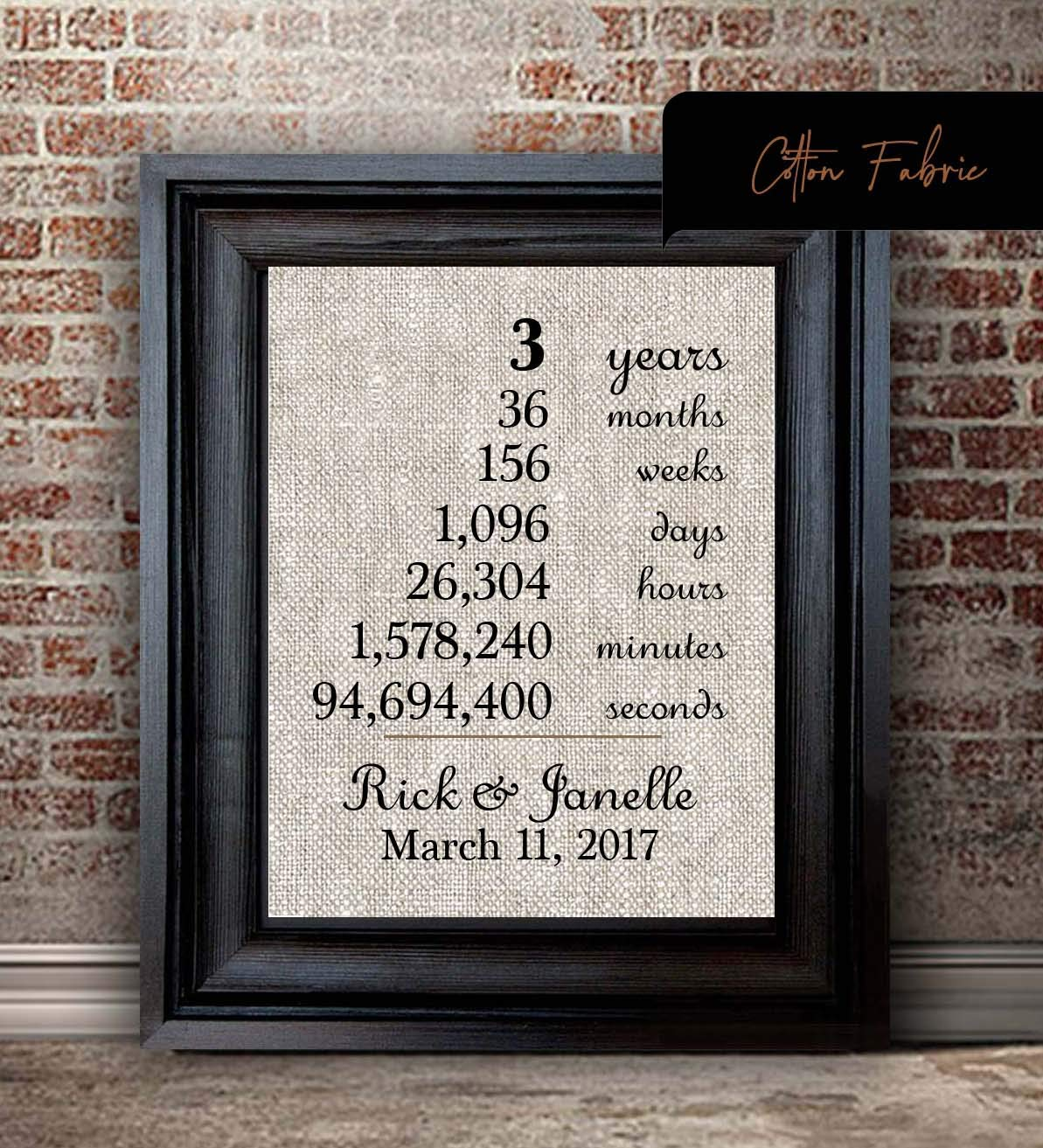 Amazon Com 3rd Anniversary Gift For Wife 3rd Anniversary Gift For Husband 3 Year Anniversary Gift For Wife Non Traditional Anniversary Gift Handmade