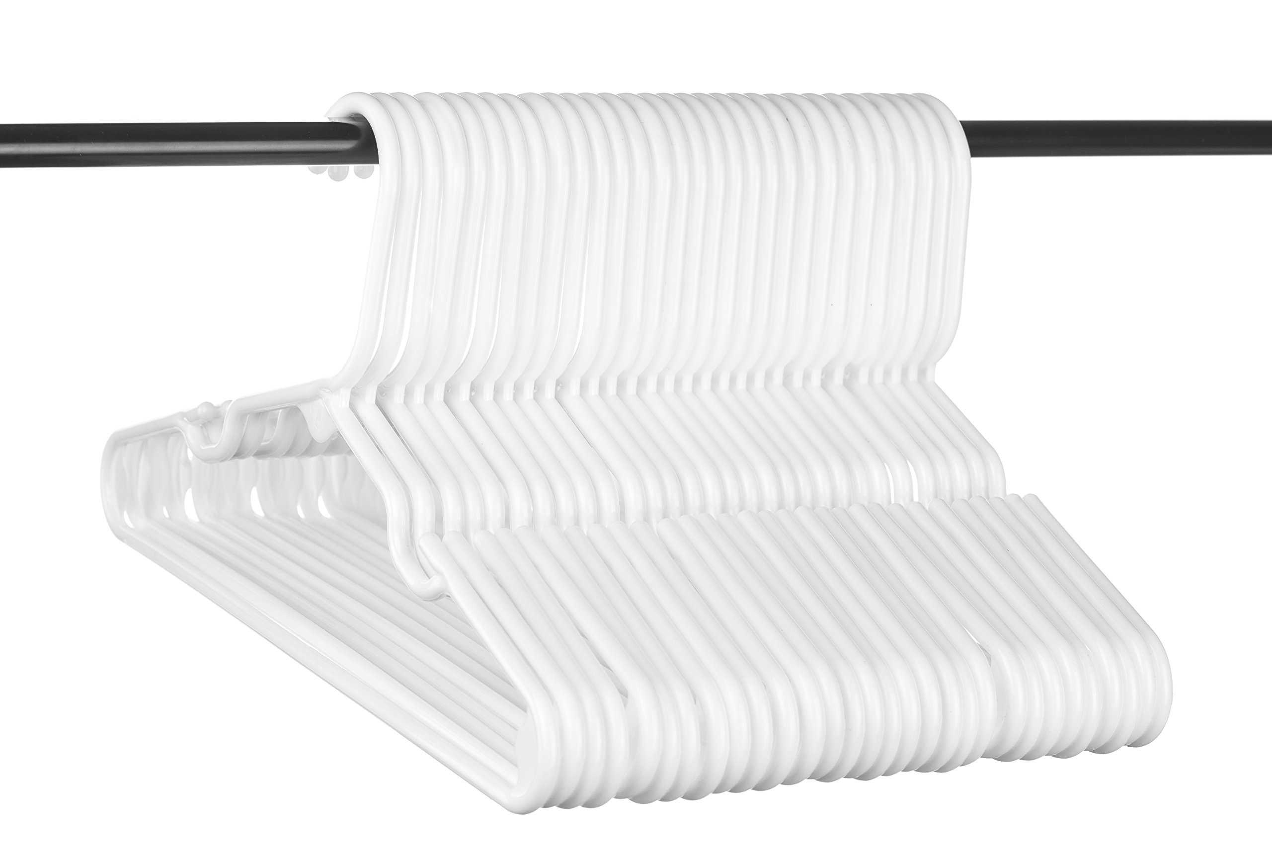 Neaties Children's Size White Plastic Hangers, USA Made Long Lasting Tubular Hangers, Set of 30 by Neaties