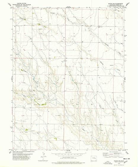 Nw Colorado Map.Amazon Com Yellowmaps Kutch Nw Co Topo Map 1 24000 Scale 7 5 X