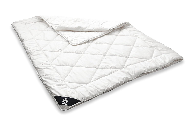 Badenia 03 649 770 140 Bettcomfort 4-Jahreszeiten-Steppbett Irisette Merino wash, 135 x 200 cm, weiß