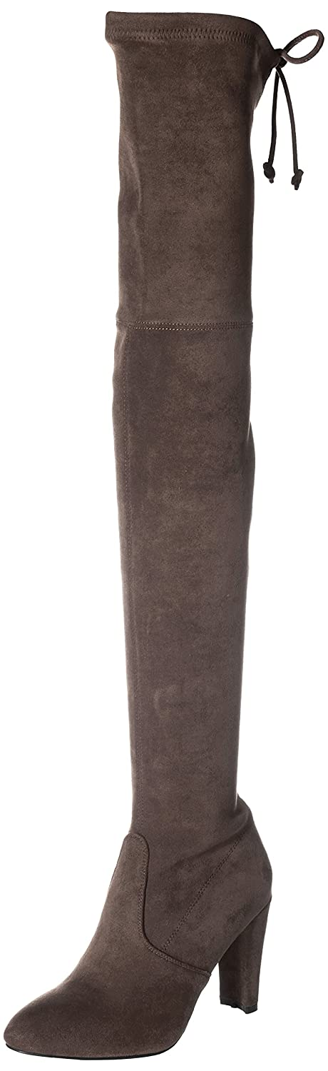 Kaitlyn Pan Microsuede High Heel Over The Knee Thigh High Boots B016LPUYAI 38 CN/7.5 US/37.5 EU|Grey